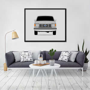 Ford F-150 8th Generation Print (1987-1997)