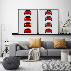 Mazda Miata Generation/History Front and Rear Print Set