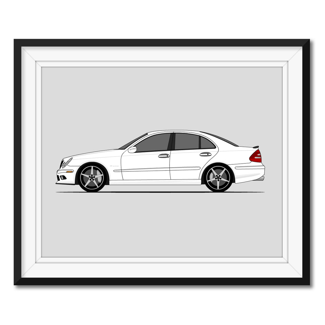 Mercedes Benz E55 W211 (2006-2009) Print (Side)