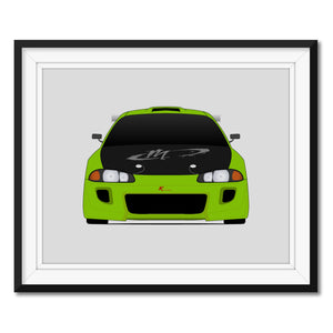 Mitsubishi Eclipse from the Fast and the Furious Print