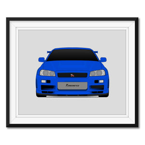 Nissan Skyline R34 GT-R from the Fast and the Furious Print (Front)