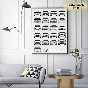 BMW M Car Complete History Print