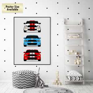 Shelby Mustang GT500 Late Model Generations/History Print