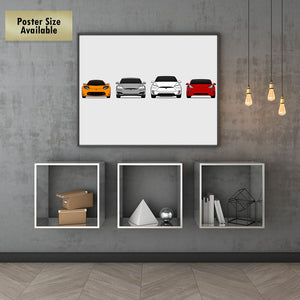 Tesla Generations/History Print (Facelifted Model S)