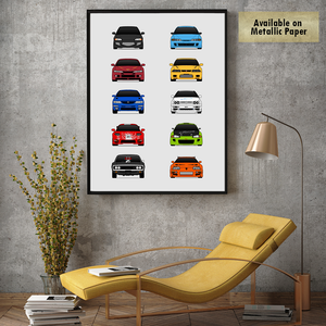 Best Cars from The Fast and the Furious Movie Print