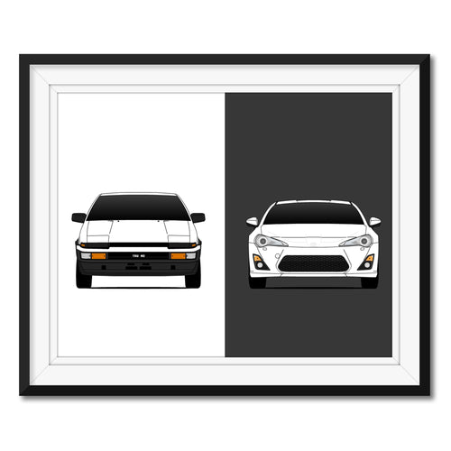 Toyota 86 Generations Print (AE 86 and GT 86)