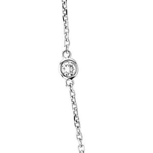 Diamond Station 0.50 ctw Necklace Bezel-Set in 14K White Gold