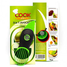 Avocado Slicer Kitchen Tool in Black and Green