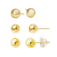 14Kt Solid Gold Ball Earrings 4mm