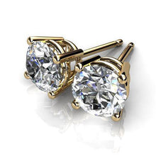 2.00 CTW Round Brilliant Cut Simulated Diamond Studs Earring Set In 14K Yellow Gold