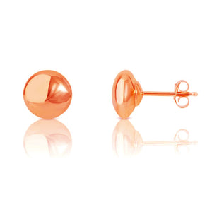 14kt Gold Button Earrings in 6mm
