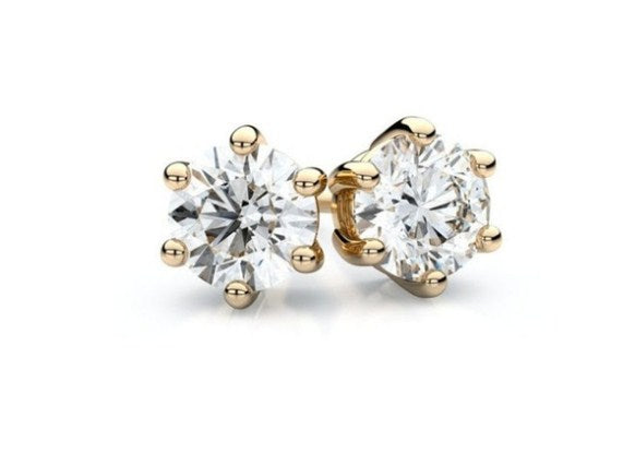 Voss+Agin 0.50 CTW Lab-Created White Sapphire Stud Earrings