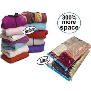 3 Piece Set: Samsonite Large Vacuum Clothing Storage Bags - Airtight, Waterproof & Reusable