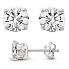 2 Carat TW Genuine White Topaz Stud Earrings in .925 Sterling Silver