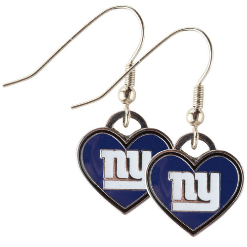 New York Giants Heart shaped  Licensed Earrings