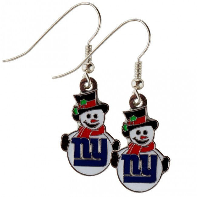 New York Giants Snowman Licensed Earrings