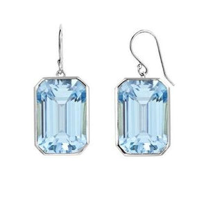 5.00ctw Genuine Blue Topaz Dangle Earrings