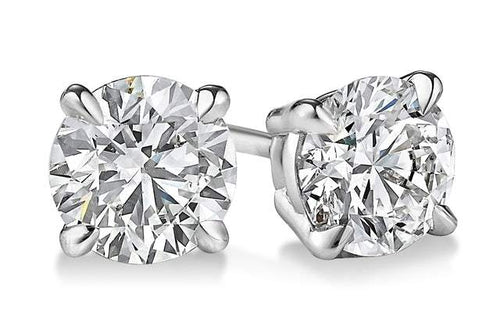 2.00 CTW Round Brilliant Cut Simulated Diamond Studs Earring Set In 14K white gold