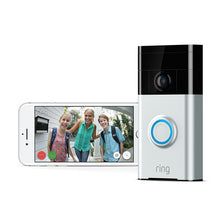 Ring Wi-Fi Enabled Video Doorbell Works with Alexa In Satin Nickel