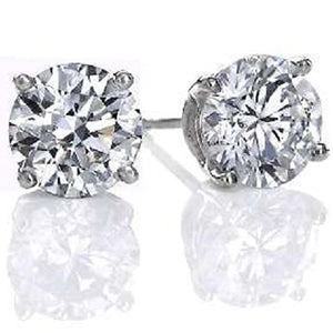 Voss+Agin .33CTW Genuine Diamond Stud Earrings in 14K White Gold