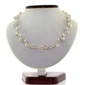 Voss+Agin Genuine Freshwater Pearl Necklace & Bracelet Set