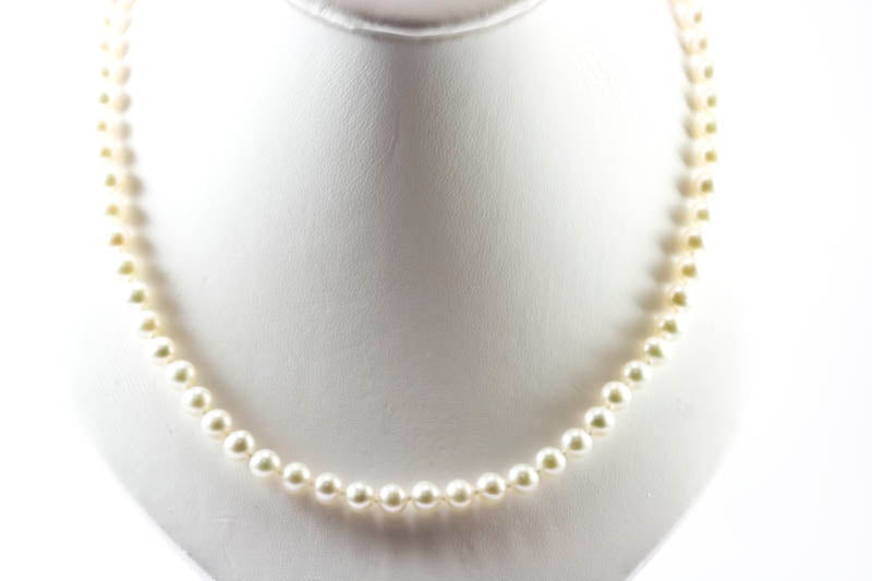 87fe3286b ... VOSS+AGIN 14k Yellow Gold AAA+ White Round Freshwater Pearl Necklace & Stud  Earrings Set ...