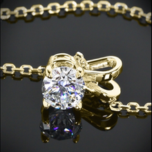 "2.00 CTW Lab Grown Sapphire Pendant Set in Solid 14kt Yellow Gold with 18"" chain"
