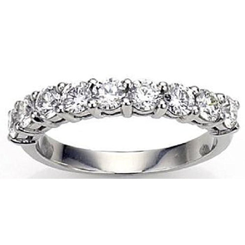 Voss+Agin .50 CTW 9-Stone Diamond Ring in 14K White Gold