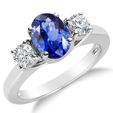 Voss+Agin 1.70CTW 14k Gold Natural Sapphire & Diamond Ring