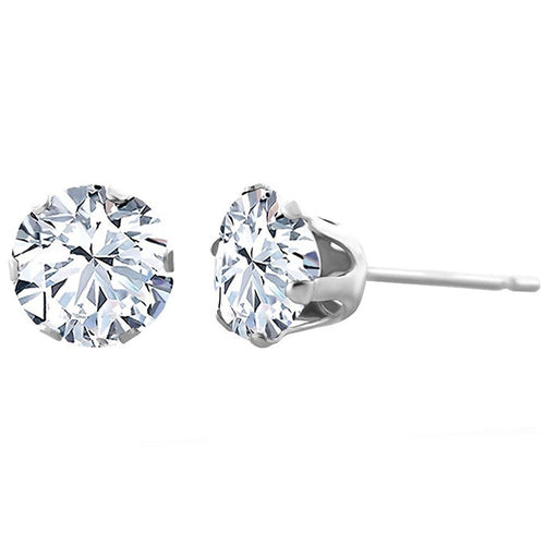 Voss+Agin 1.75CTW Genuine White Topaz Stud Earrings in Sterling Silver