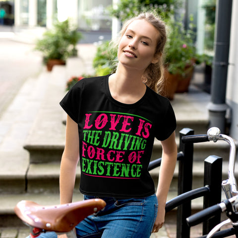 Love - Diversity - (Women's Crop Tee)
