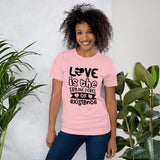 Pink or Black Fun-Style T-Shirt: Women's Relaxed T-Shirt