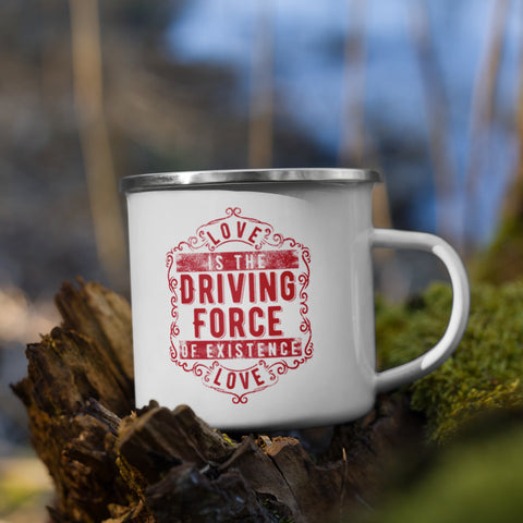 Camper Mug - Love is the Driving Force of Existence
