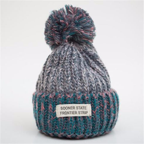 Grey Day - Sweetness Wool Popom Winter Hat Collection