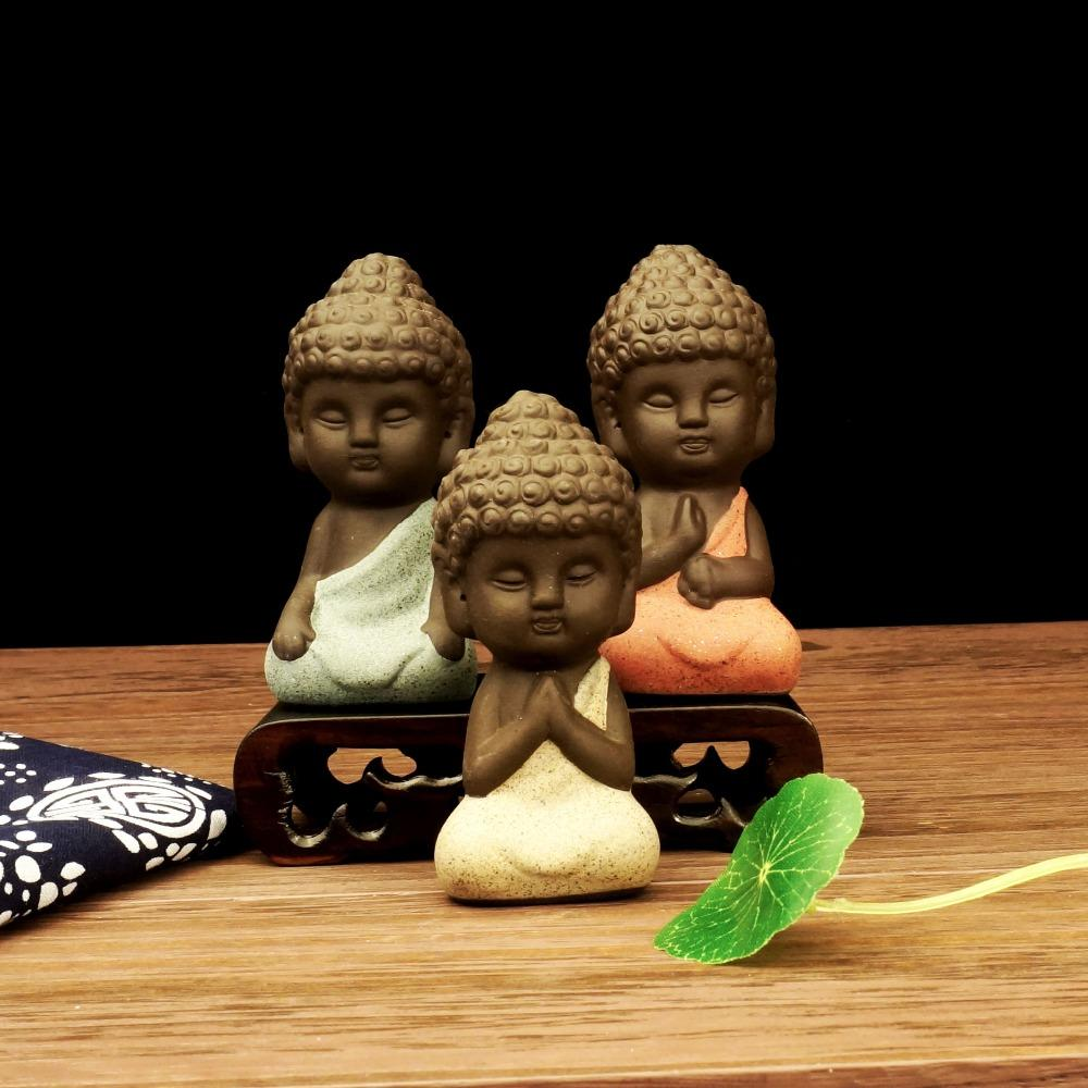 Awareness - Tiny Monk Ceramic Figurine