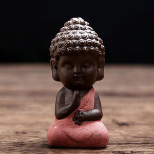 Open image in slideshow, Awareness - Tiny Monk Ceramic Figurine