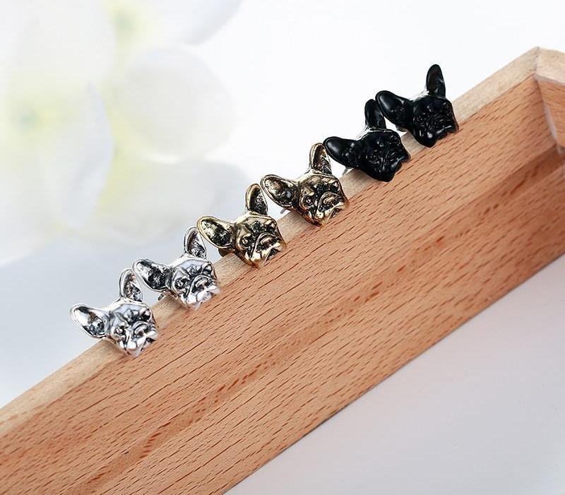 Studded Earrings - Frenchie Gear Collection