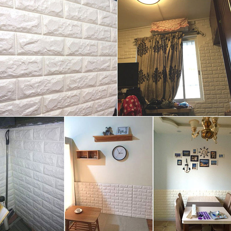Faux Foam Brick Room Decor - Easy DIY Wallpaper