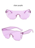Oversized Flat Color Sunglasses