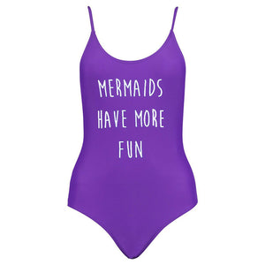 Mermaids Have More Fun !! One Piece Swimwear Swimsuits