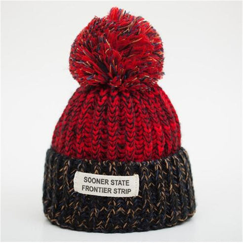 Vibrant Red - Sweetness Wool Pompom Winter Hat Collection