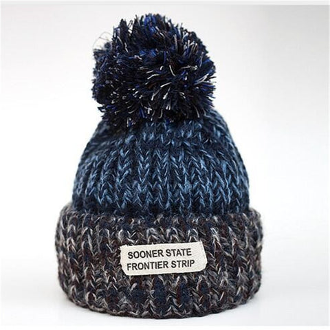 Vibrant Blue - Sweetness Wool Popom Winter Hat Collection