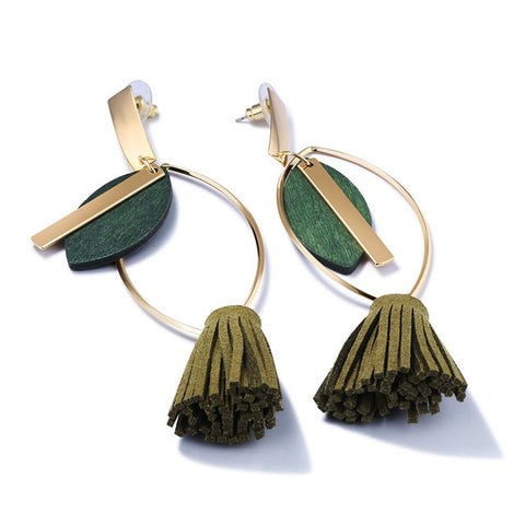 Long Tassel Drop Earrings