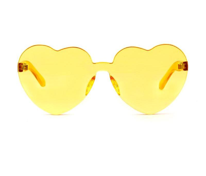 Heart Flat Color Sunglasses