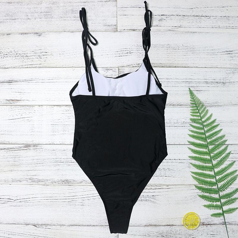 Black Out One Piece with Push Up