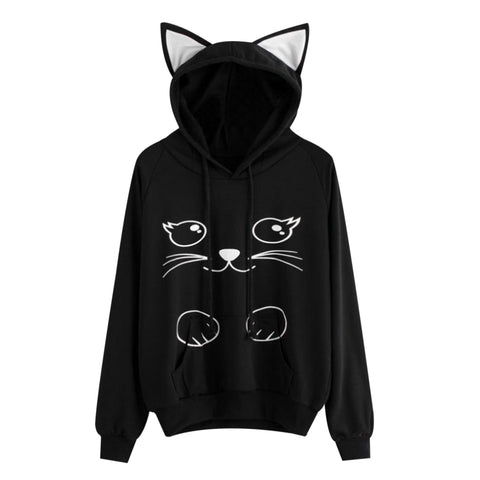 Brow Black - Meow Collection - Cat Hat Hoodie !!