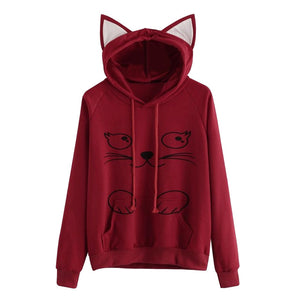 Open image in slideshow, Root Red - Meow Collection - Cat Hat Hoodie !!