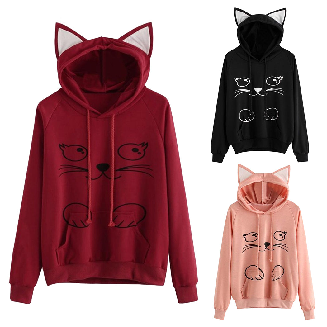 Root Red - Meow Collection - Cat Hat Hoodie !!