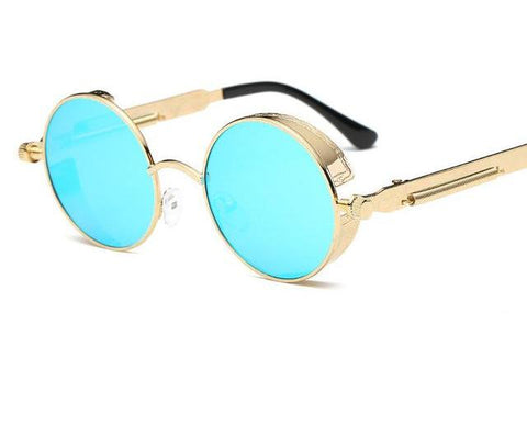 Round Metal Blinder Sunnies