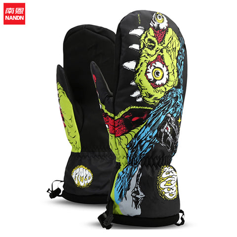 Snowboard Mittens - Monster